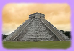 The Mayan version of the pyramid is truncated so that a temple can be built on the top.